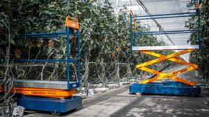 Berg Hortimotive Benomic Rohrschienenwagen
