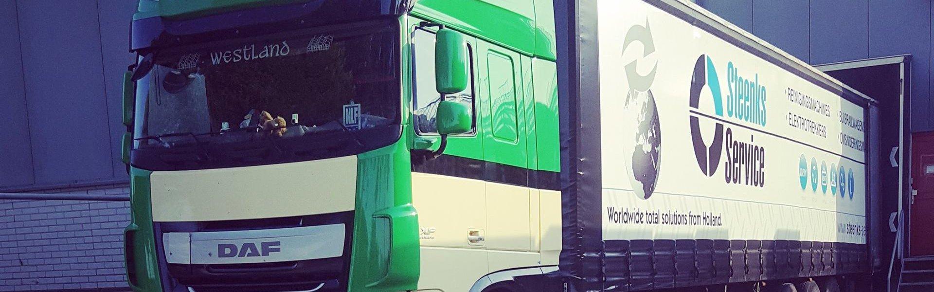 Empas-Spritzwagen zur Desinfektion von Lastwagen